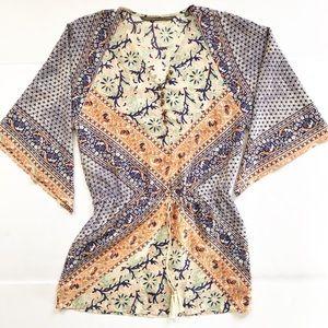 Twelfth Street multi colored silk dress. Size S